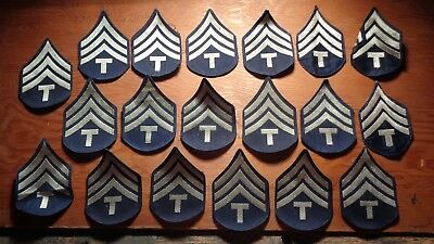 WWII vintage lot of 19 US Army Technical Sergeant summer rank chevron patches