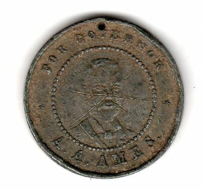 A.A. Ames Corrupt Minnesota Politician Token Medalet
