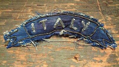 RARE WWII vintage Italy scroll tab patch theater made w/ AF veterans picture