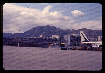 (001) Vintage 1960s 35mm Slide Photo - HONG KONG - Airport
