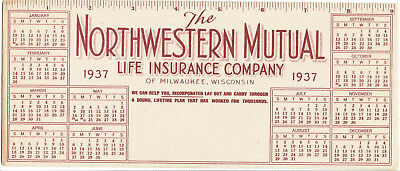 1937 - Milwaukee, WI - Northwestern Mutual Life Insurance Co - Cal Adv Blotter