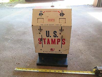 US Stamps Postage Vintage Vending Machine 5 and 10 Cent Coin Op Stamp with key
