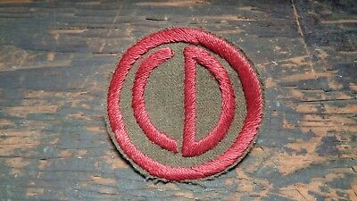 RARE WWII vintage 85th Infantry Division patch hand embr Italian theater made