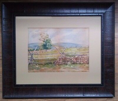 Mary King Porter - Antique American Impressionist Landscape Watercolor Painting