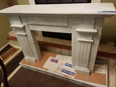 Hand Carved Custom White Marble Fireplace Mantel