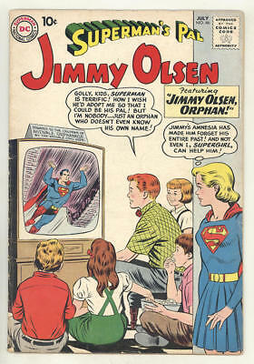 July 1960 SUPERMAN'S PAL JIMMY OLSEN #46. Jimmy the orphan. NICE 10¢ issue