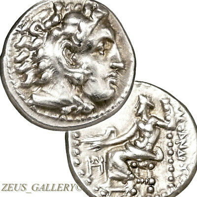 RARE Lifetime of ALEXANDER the Great Coin Ancient Silver Miletos Herakles 325 BC