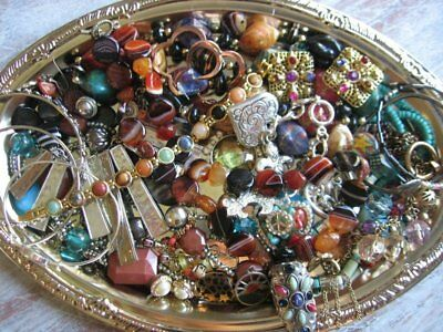 Vintage Now Estate Jewelry Junk Drawer Lot Unsearched Untested Wearable MULTI