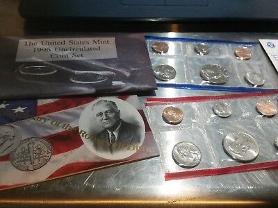 The 1996 United States Mint Uncirculated Coin Set With P And D Mint Marks