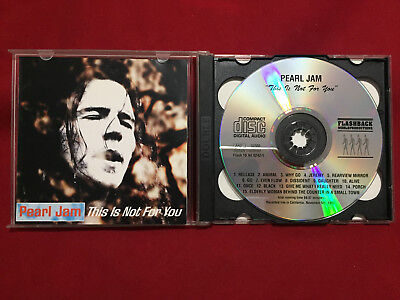 Pearl Jam This Is Not For You 2 CD Original Silver Pressing 1993  Flashback