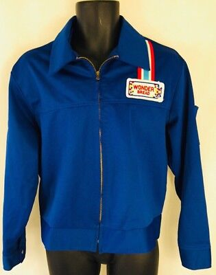 "Vintage/ Retro ""Wonder Bread"" Delivery Uniform Blue Jacket- Size 40"