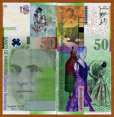 Kamberra, Kingdom, 50 Numismas, 2013, UNC > Sophie Jenlin > Redesigned New Issue