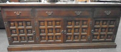 17th Century Spanish Style YOUNGER Toledo Dark Oak Sideboard Buffet  - T17