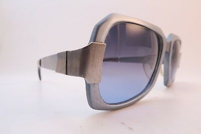 Vintage late 60s early 70s Neostyle sunglasses Mod. AL 400 blue brushed aluminum
