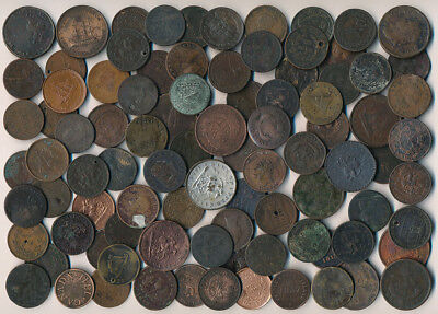91 OLD CANADA CULL TOKENS & COINS (AUTHENTIC but UGLY > MUST SEE) NO RESERVE