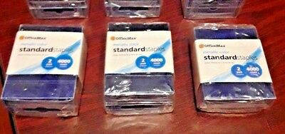 3 New Packs Office Max 12,000 Total Count Metallic Blue Color Standard Staples