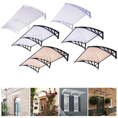 "40x40"" 80x40"" Seamless Window Awning Front Door Shade Outdoor Patio Cover Canopy"
