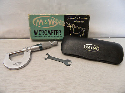 Vintage Moore & Wright Pearl Chrome Coated Micrometer No961M + Box and Leaflet