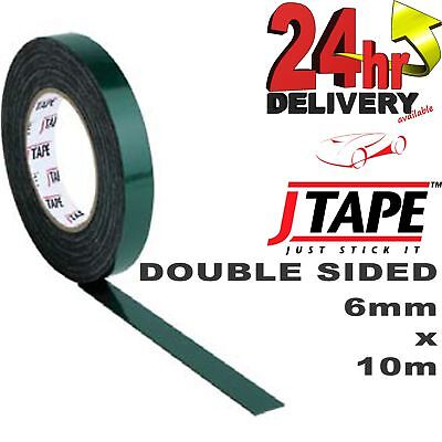 JTape 6mm x 10m DOUBLE SIDED Mounting Adhesive Tape Trims/Badges/Body Mouldings