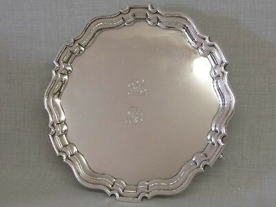 "A SUPERB VINTAGE 1926 HEAVY SOLID SILVER SALVER TRAY 845g ""MONKHAM'S GOLF CLUB"""
