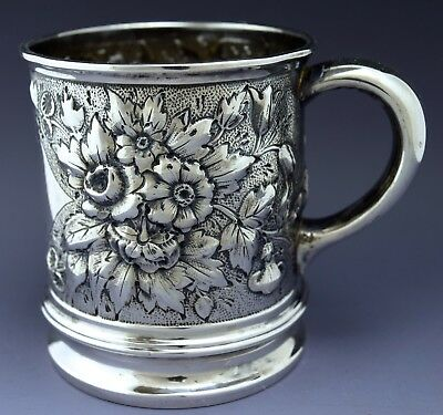 Vintage Whiting Repousse Flower Sterling Silver Baby Cup NO RESEVE 85g Not Scrap