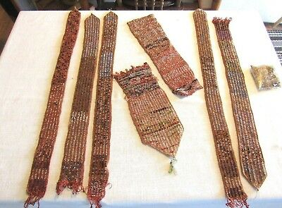 Plains Indians Sashes Mid 19Th Century Tiny Tiny Bead Work As Is Rare Wampum ?