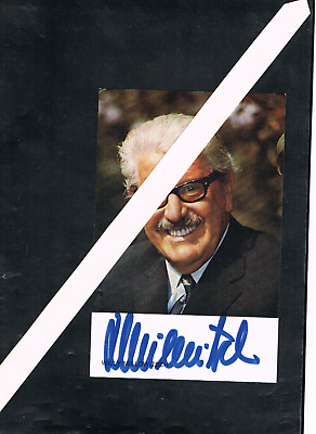 Willy Millowitsch  - Deutschland - Signatur Theaterschauspieler  - Film - + 1999