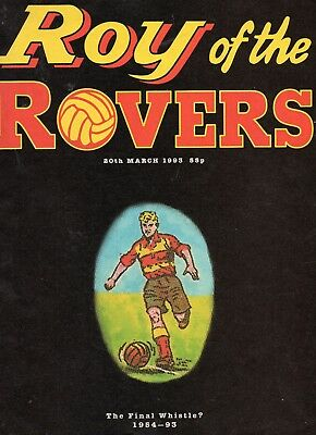 Roy of The Rovers 20th Marc1993 - The Final Whistle
