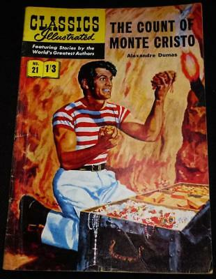 Classics Illustrated - The Count of Monte Cristo No.21 in good condition