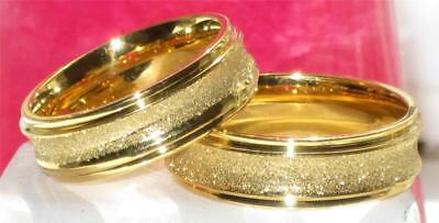 Mens Or Womens Wedding Ring Wedding  Band  6Mm  Str125 Stainless Steel Gold
