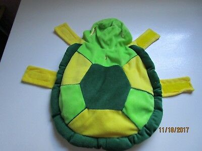 Dog Pet Costume - Turtle Style - Size Small 10 inches - Gently pre owned