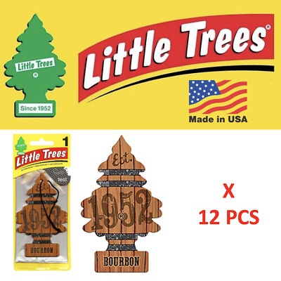 Bourbon Freshener Little Trees air 10975 MADE IN USA Pack of 12