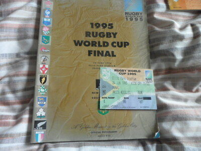 New Zealand V South Africa-1995 World Cup Rugby Union Programme & Ticket