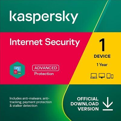 Kaspersky Internet Security 2019 - 1, 3, 5 or 10 PC / Devices 1 or 2 Yr Download