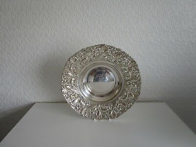 large silver dish 298.grams  indian silver