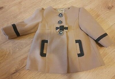 Next Baby Beige Smart Coat Age 6-9 Months