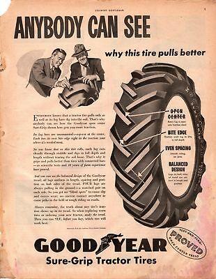 1947 Country Gentleman Magazine Advertisement GoodYear Tires 1Page A418