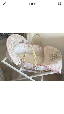 Mamas and Papas Millie and Boris Moses Basket, Stand, Coverlet and  Mattress