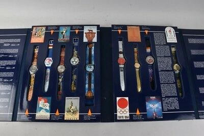 e50w99- Swatch Historical Olympic Games Collection 9x Uhr lim. 5189/9999
