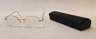 DANIEL SWAROVSKI Crystal Eyewear Rimless Glasses In Case - S42