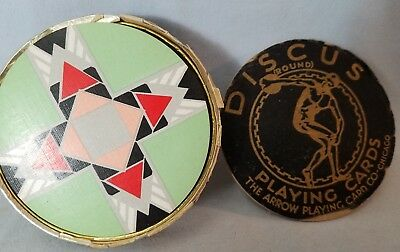 Near Mint 1920's Complete Deck Art Deco Round Playing Cards By Discus NO Reserve