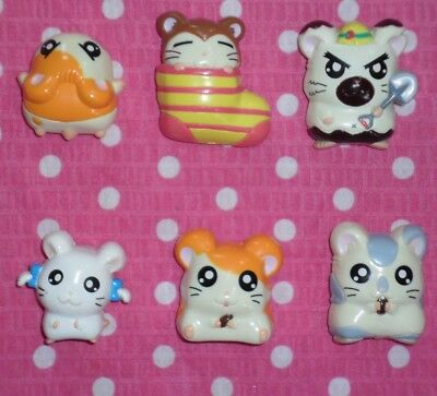 Vintage Hamtaro Hamster and friends set of 6 Magnets from Japan USA Seller