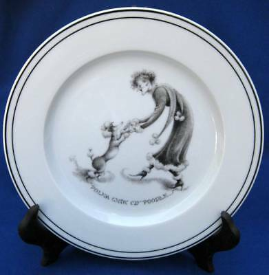 Limoges France Neiman Marcus Joanna Hansen Polka With My Poodle Dog Plate