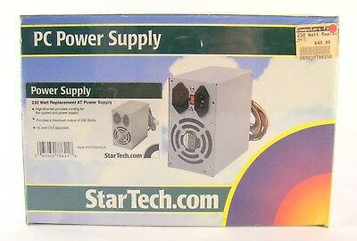 STAR TECH PC POWER SUPPLY ~ 230 WATT REPLACEMENT POWER FOR PCs ~ NEW IN BOX