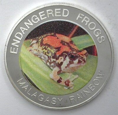Malawi 2010 10 Kwacha Endangered Frogs - Malagasy Rainbow - Exceptional Pf Dcam