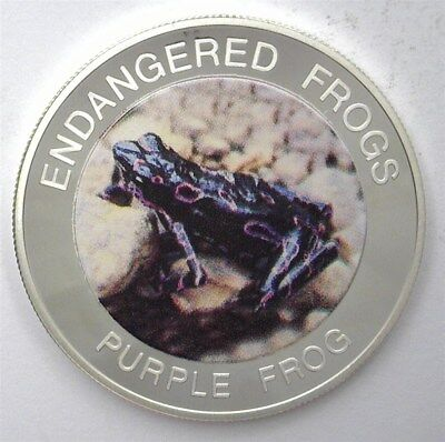 Malawi 2010 10 Kwacha Endangered Frogs - Purple Frog - Exceptional Proof Dcam