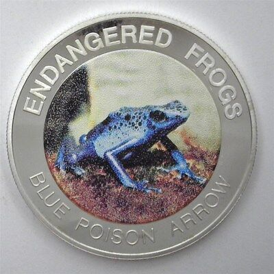 Malawi 2010 10 Kwacha Endangered Frogs -Blue Poison Arrow- Near Perfect Proof