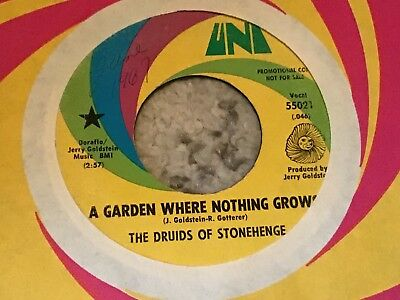 45 RPM Druids Of Stonehenge UNI DJ A Garden Where Nothing Grows PSYCH  VG
