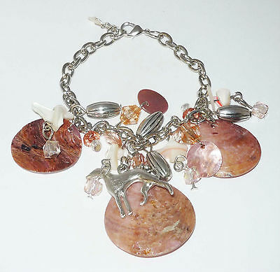 Shell and Bead Bracelet with Greyhound or Whippet Dog Charm Auction