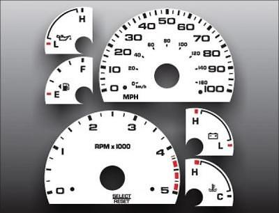 2003-2004 Ford Truck Diesel Powerstroke Manual Dash Cluster White Face Gauges